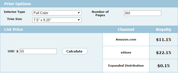 createspace-royalty-calculator-screenshot